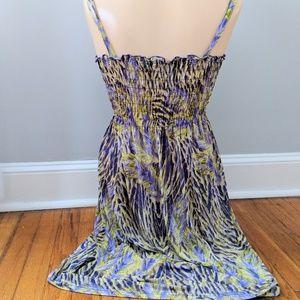 Just Love Dresses - Just Love Purple & Green Animal Print Maxi Dress